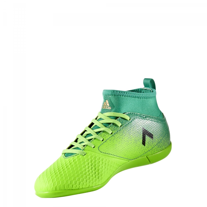 adidas Ace 17.3 IN Kinder Fußball Hallenschuhe Indoor grün