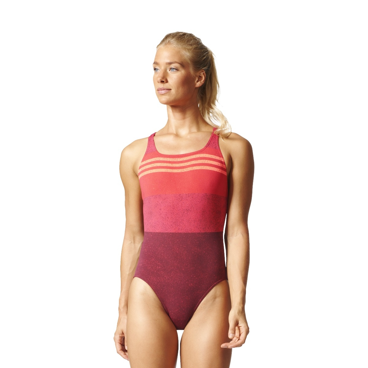 adidas Infinitex Essence Flare 3S 1PC Damen Badeanzug pink coral ... d38499148e