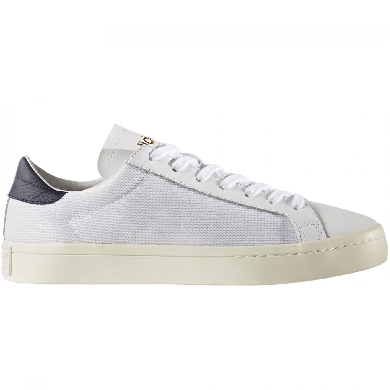 buy popular 1bc89 e1920 adidas Originals Courtvantage Sneaker Herren Schuhe weiß blau