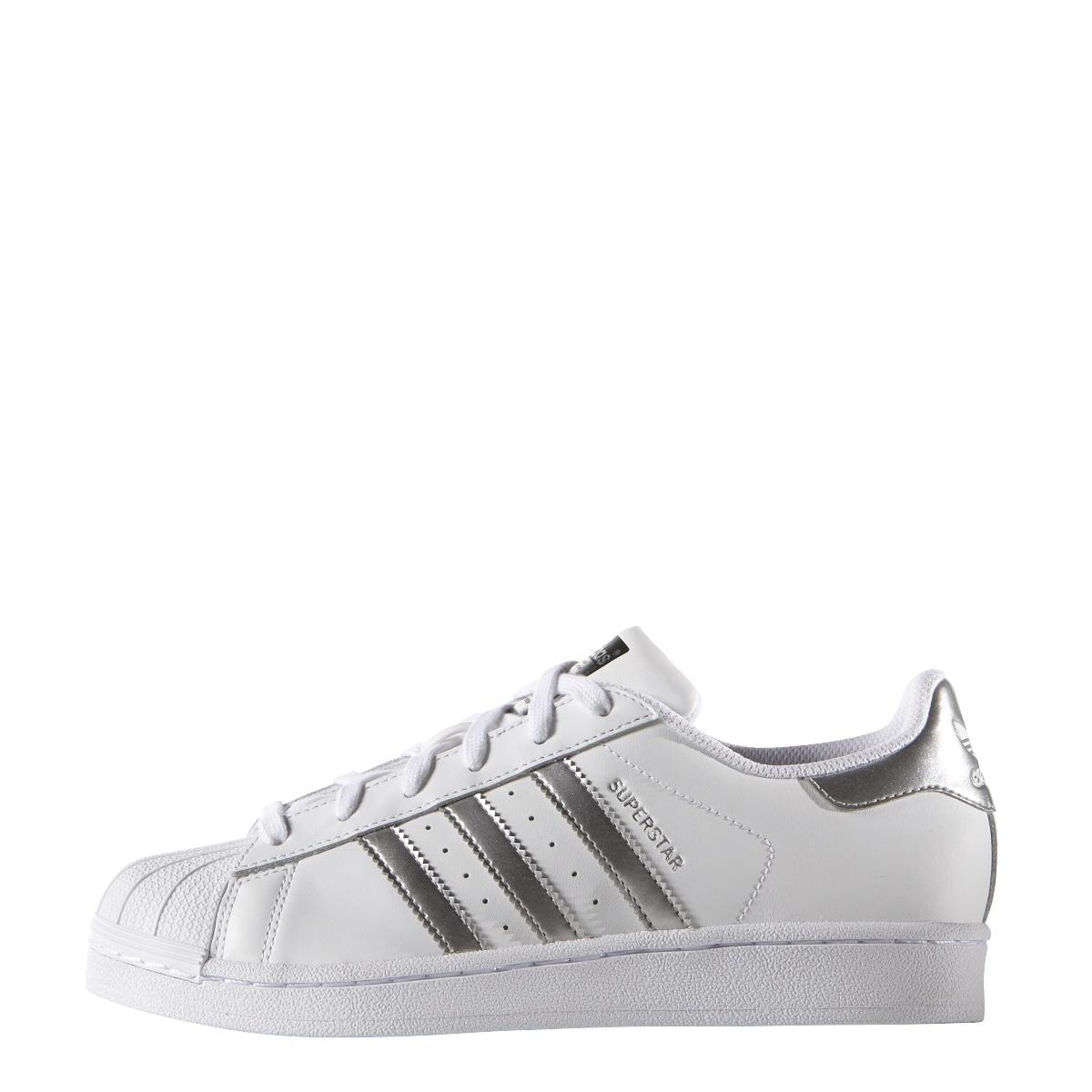 Damen Silber Adidas Modeschuhe Originals Superstar Sneaker Weiß Pqw1Zq