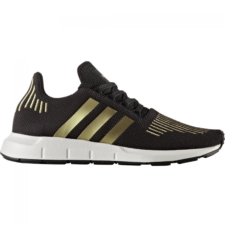 7b6e695976b29b adidas Originals Swift Run Sneaker Damen Schuhe schwarz gold ...