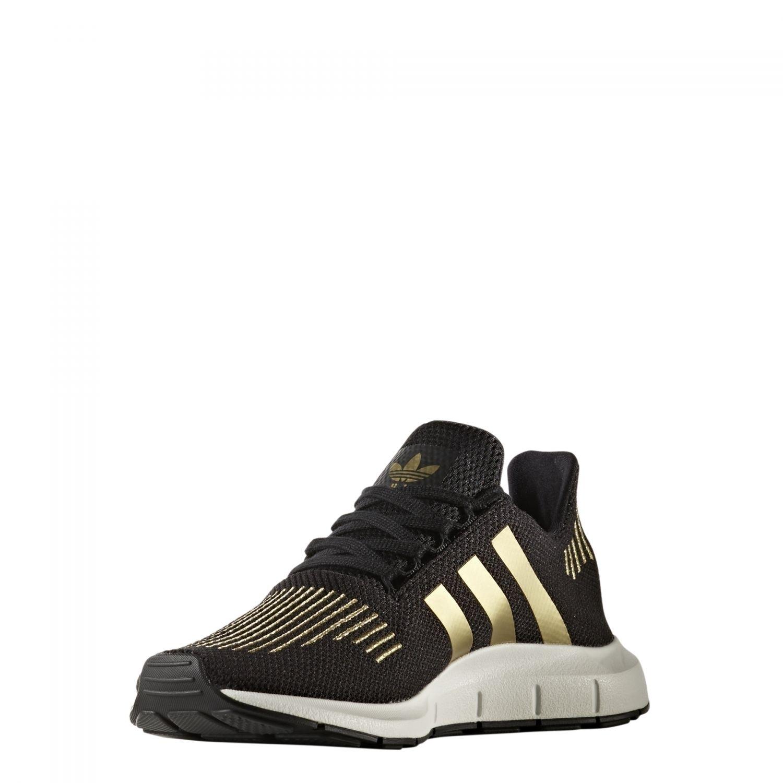 Gold Swift Run Damen Schwarz Schuhe Originals Adidas Sneaker