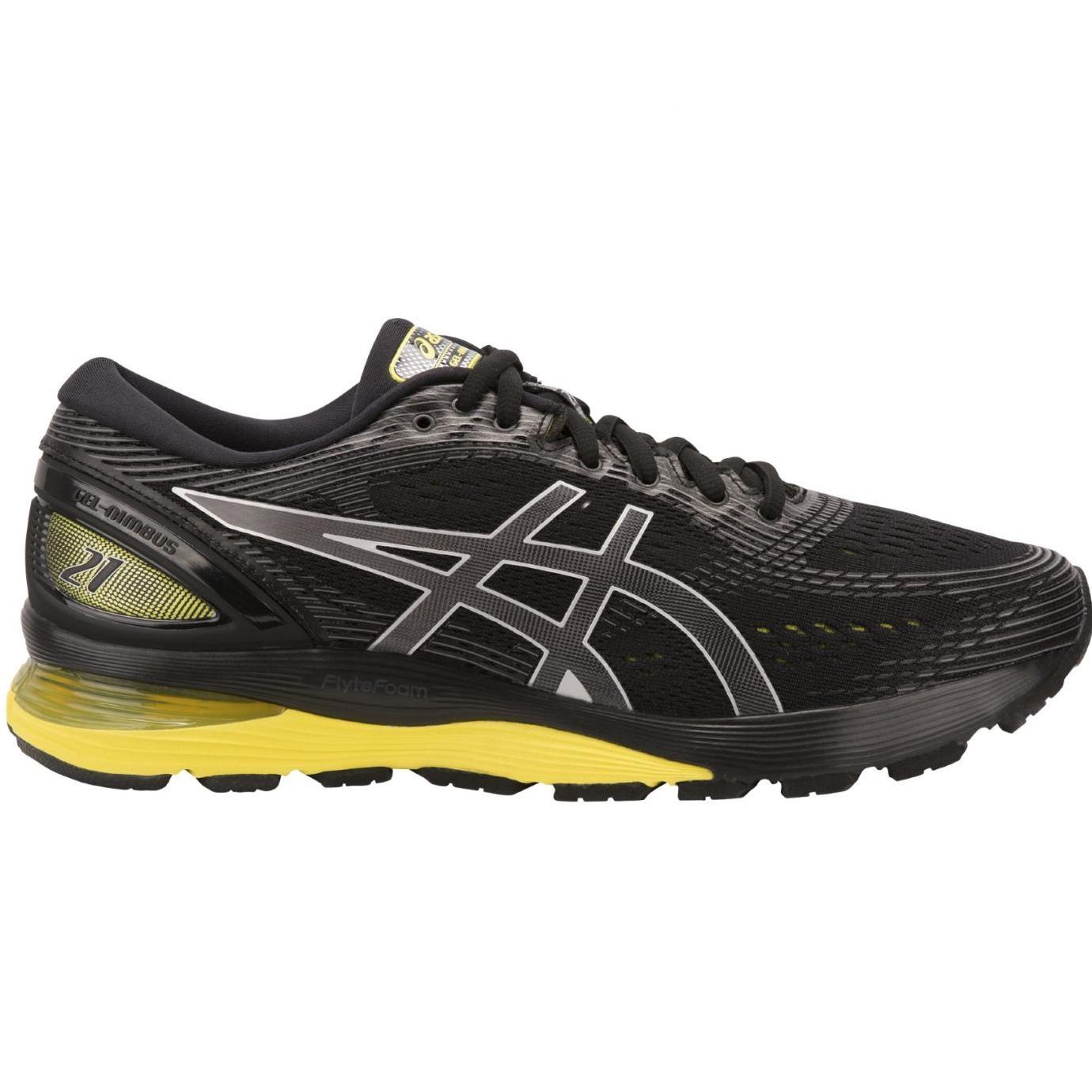 Details zu Asics Gel Nimbus 21 Laufschuhe Herren Running schwarz gelb 1011A169 003