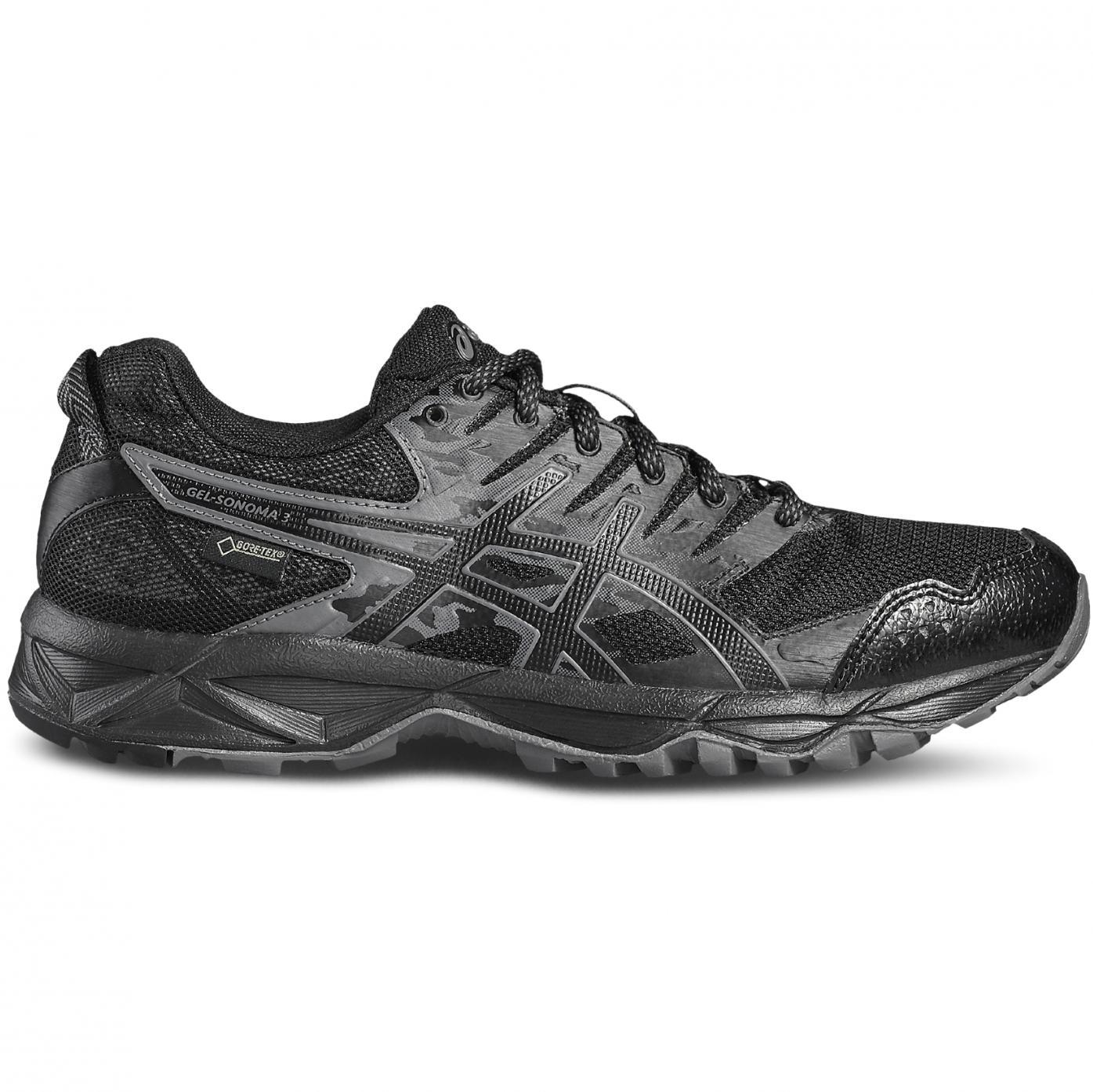 459a3fb1c51bd1 Asics Gel-Sonoma 3 G-TX Damen Laufschuh Trail-Running schwarz ...