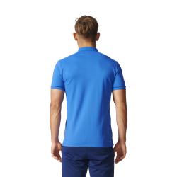 Details zu adidas Tiro 17 Cotton Poloshirt Herren blau Fußball Freizeit Baumwolle BQ2683