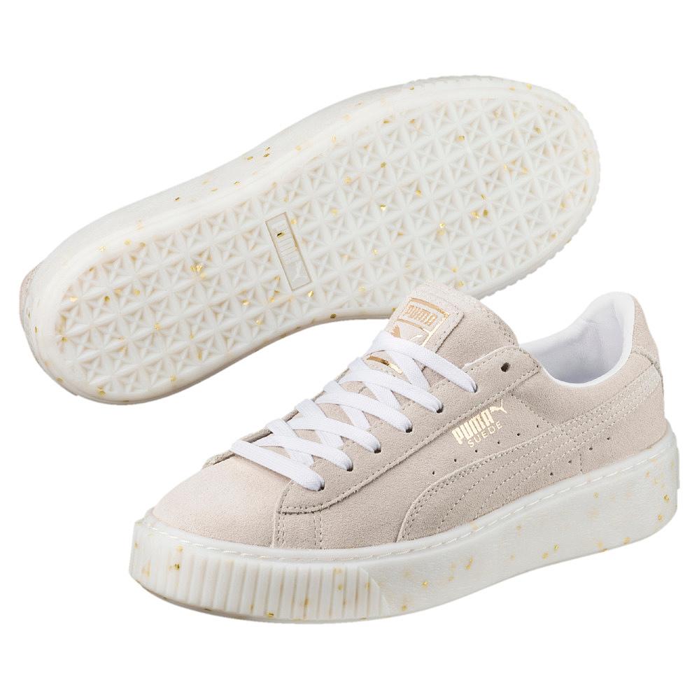 Sneakers PUMA - Suede Platform Celebrate 365621 02 Puma White/Puma Team Gold RyRe0V